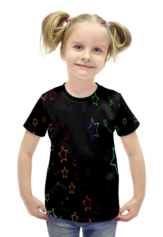 Футболка с полной запечаткой для девочек Printio Звезды футболка с полной запечаткой для девочек printio spawn