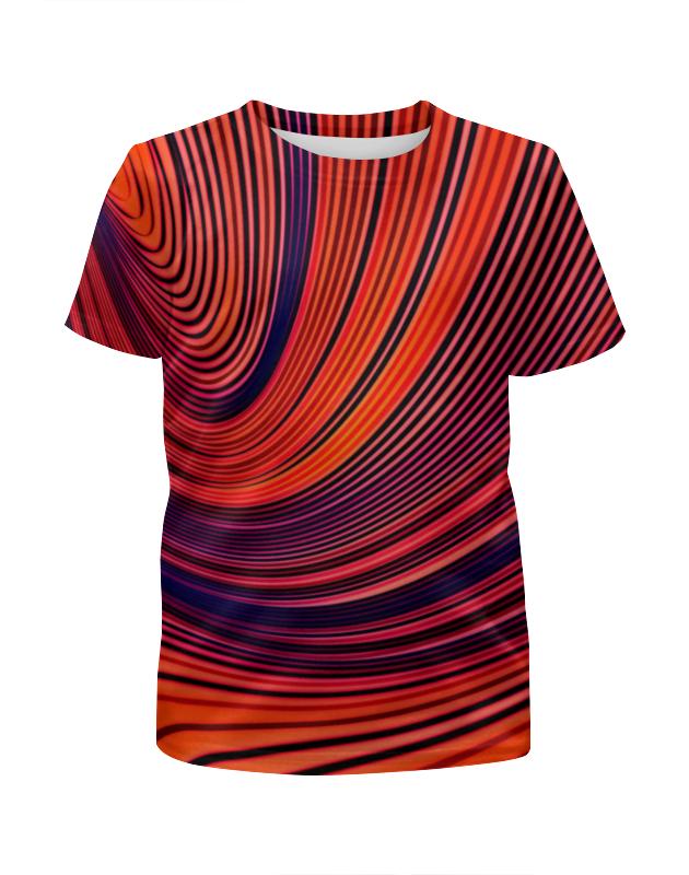 Футболка с полной запечаткой для девочек Printio Цветные полосы футболка с полной запечаткой для девочек printio пртигр arsb
