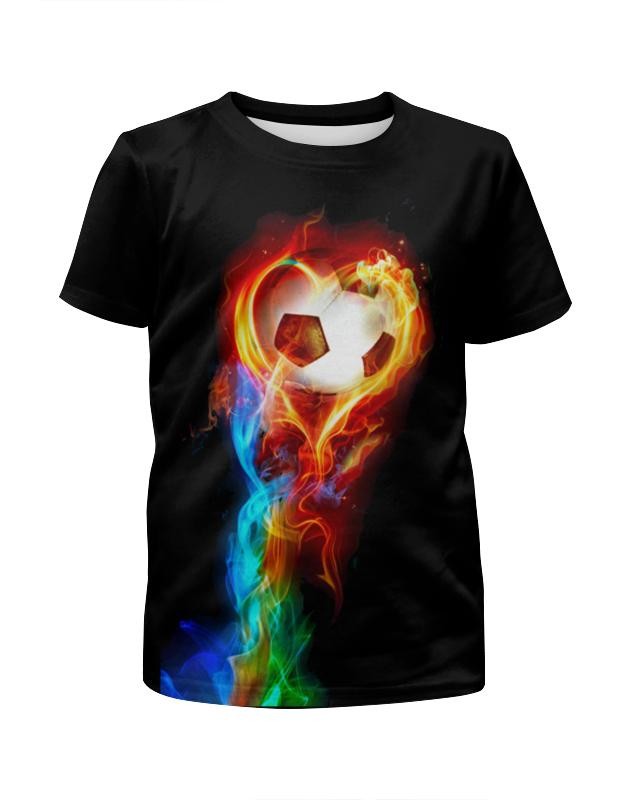 Футболка с полной запечаткой для девочек Printio Огненный мяч