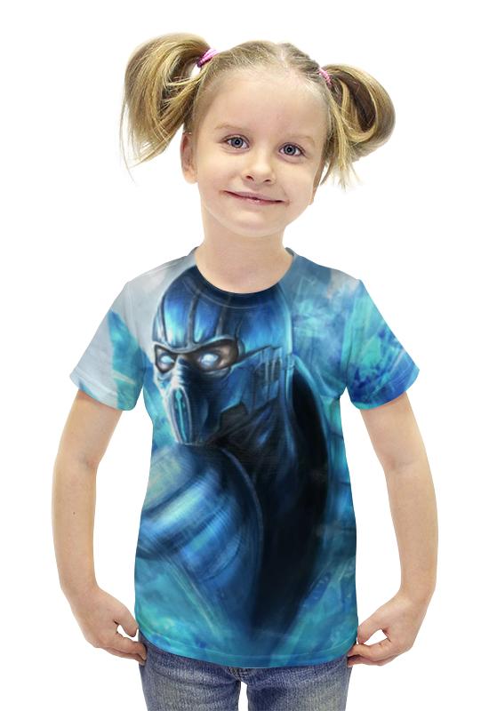 Футболка с полной запечаткой для девочек Printio Саб-зиро футболка с полной запечаткой для девочек printio пртигр arsb