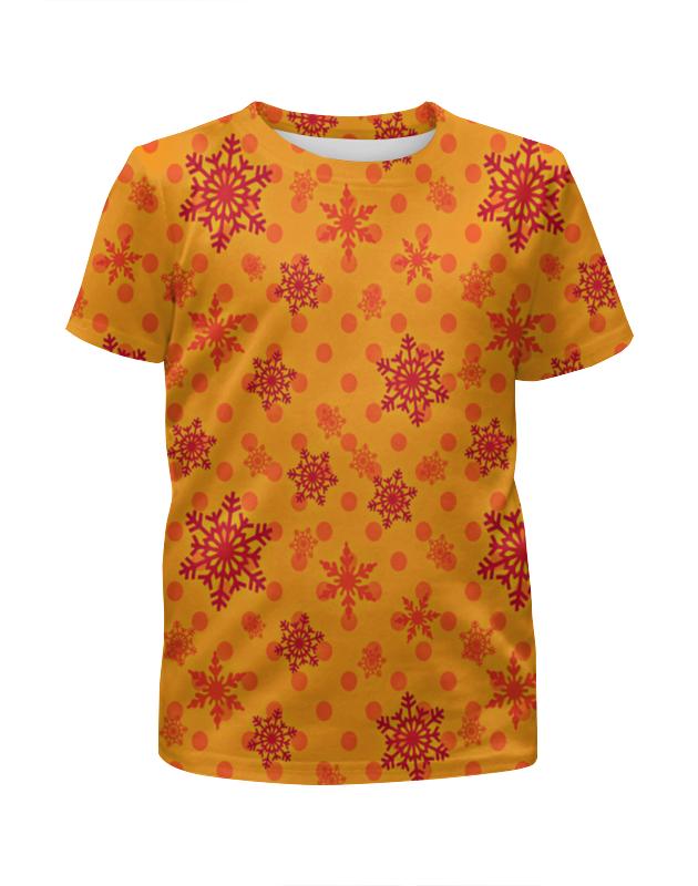 Футболка с полной запечаткой для девочек Printio Падающие снежинки футболка с полной запечаткой мужская printio падающие снежинки