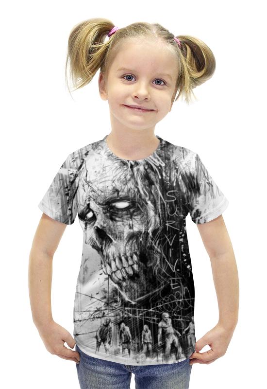 Футболка с полной запечаткой для девочек Printio Зомби футболка с полной запечаткой для девочек printio пртигр arsb