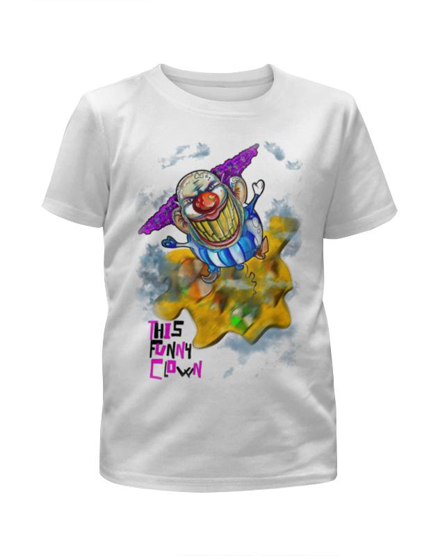 Футболка с полной запечаткой для девочек Printio Смешной клоун цена и фото