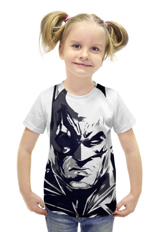 Футболка с полной запечаткой для девочек Printio Бэтмэн футболка с полной запечаткой для девочек printio пртигр arsb