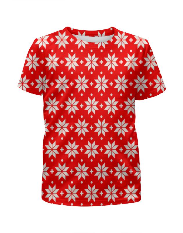 Printio Красно-белый узор футболка с полной запечаткой для мальчиков printio красно синий узор