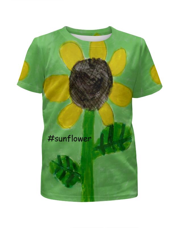 Футболка с полной запечаткой для девочек Printio Подсолнух футболка с полной запечаткой для девочек printio весеннее настроение