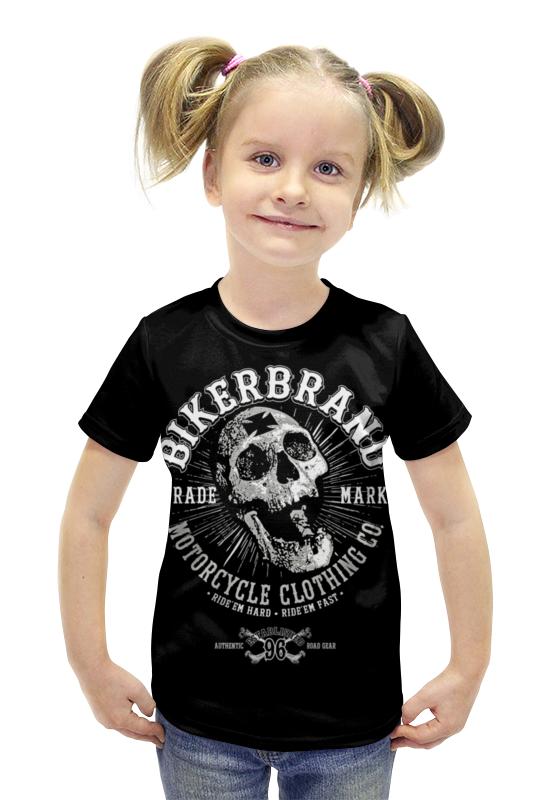 Футболка с полной запечаткой для девочек Printio Bikerbrand футболка с полной запечаткой для девочек printio пртигр arsb