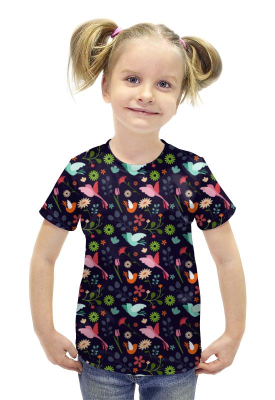 Футболка с полной запечаткой для девочек Printio Красивые птички футболка с полной запечаткой для девочек printio птички