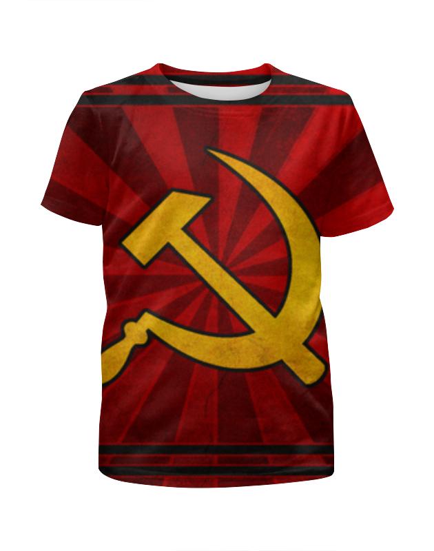 Футболка с полной запечаткой для девочек Printio Ссср (серп и молот) футболка с полной запечаткой для девочек printio i want you for nova corps