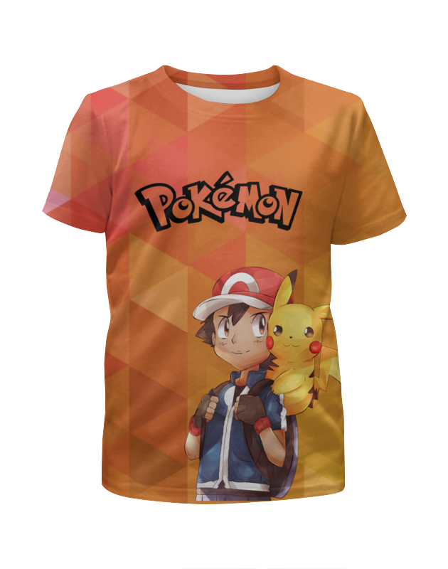 Футболка с полной запечаткой для девочек Printio Pokemon go