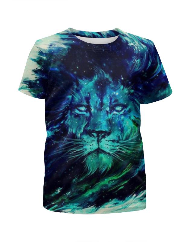 Футболка с полной запечаткой для девочек Printio Царь зверей футболка классическая printio лев царь зверей