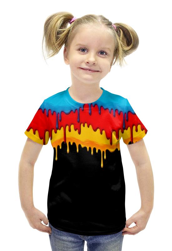 Футболка с полной запечаткой для девочек Printio Краска футболка с полной запечаткой для девочек printio пртигр arsb