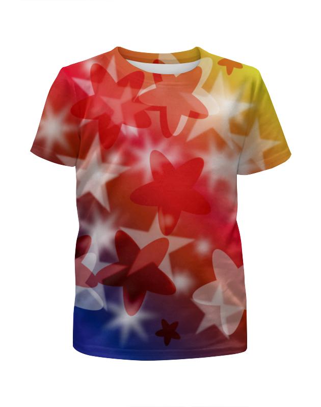 Футболка с полной запечаткой для девочек Printio Веселые звездочки футболка картинка