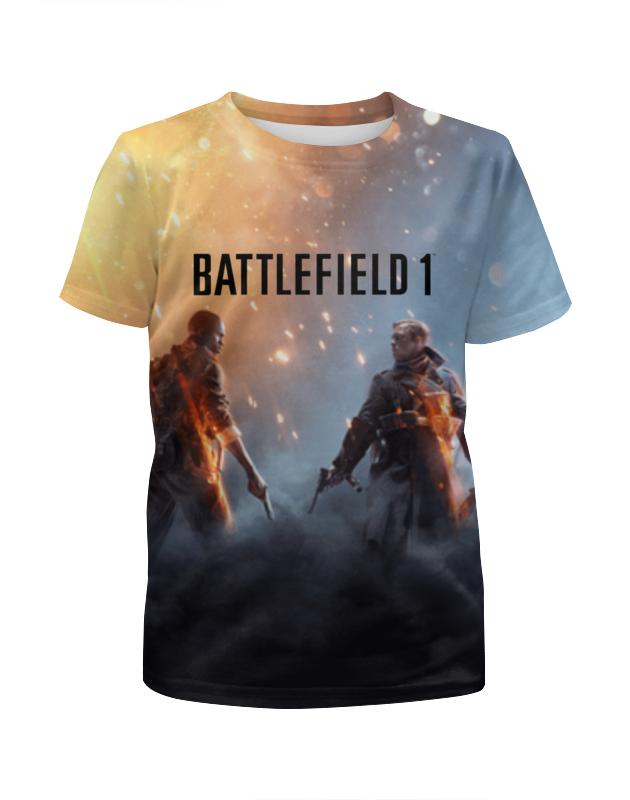 Футболка с полной запечаткой для девочек Printio Battlefield 1