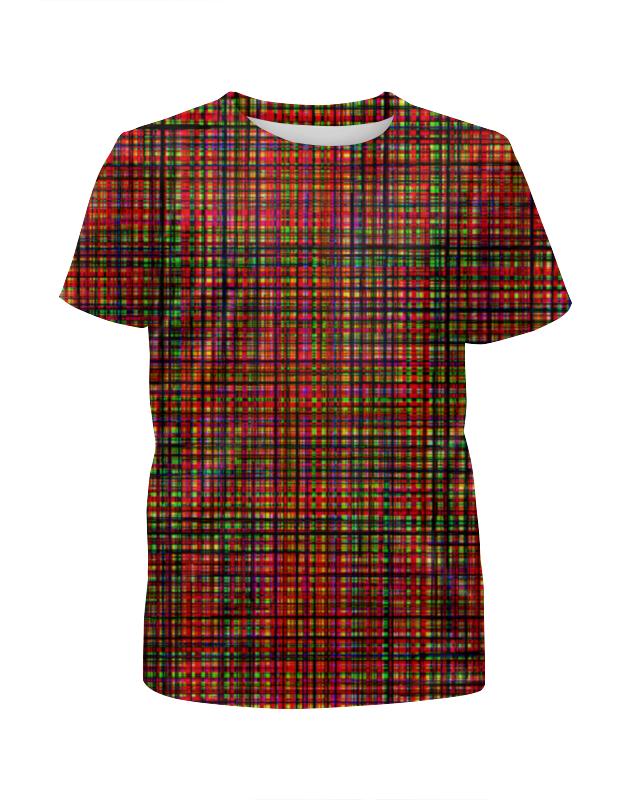Футболка с полной запечаткой для девочек Printio Glitch art (красная сетка) футболка с полной запечаткой для девочек printio glitch art круг в квадрате