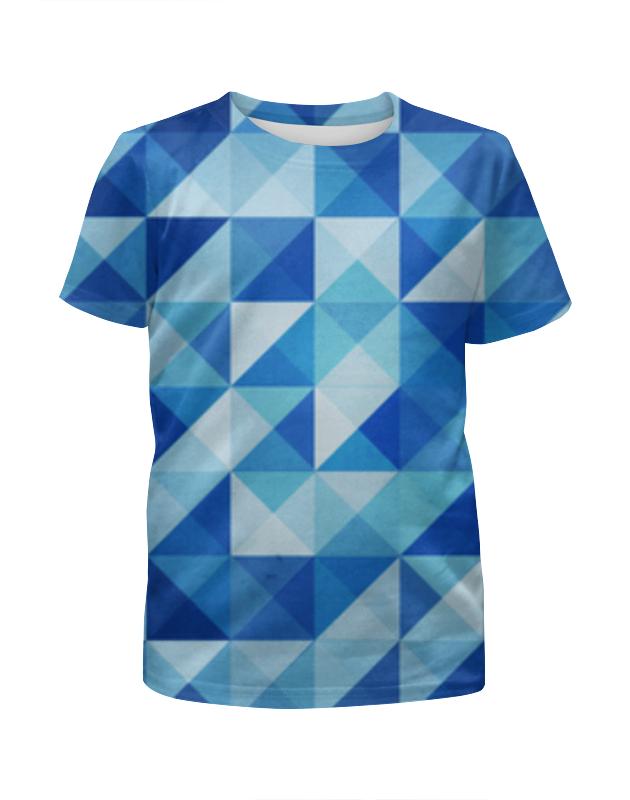 Футболка с полной запечаткой для девочек Printio Геометрические фигуры футболка с полной запечаткой для девочек printio попугаи