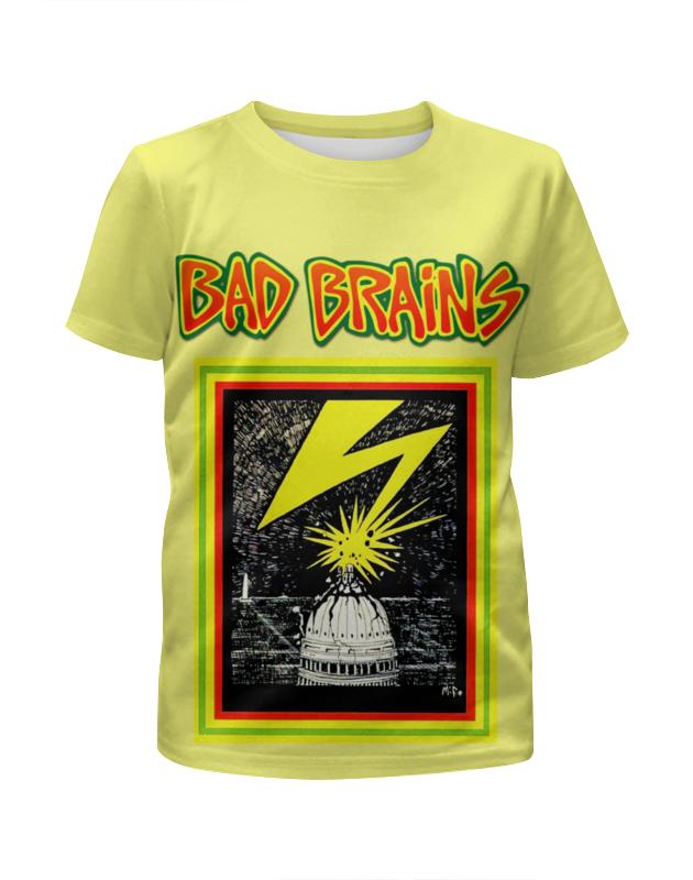 Футболка с полной запечаткой для девочек Printio Bad brains broken brains