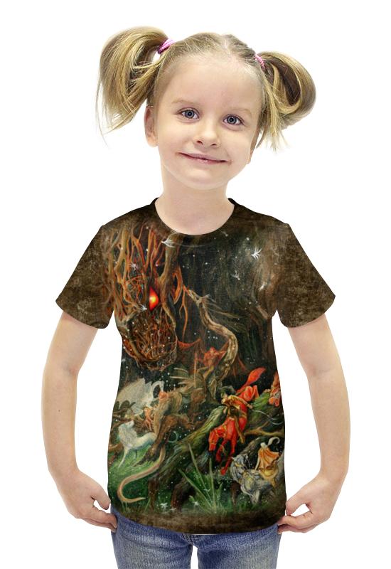Футболка с полной запечаткой для девочек Printio Сумрак волшебной рощи футболка с полной запечаткой printio война миров z