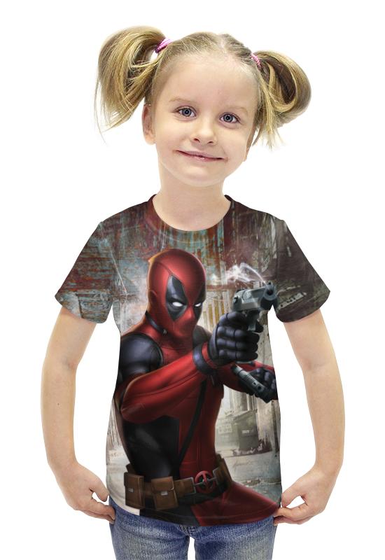Футболка с полной запечаткой для девочек Printio Deadpool футболка с полной запечаткой для девочек printio пртигр arsb