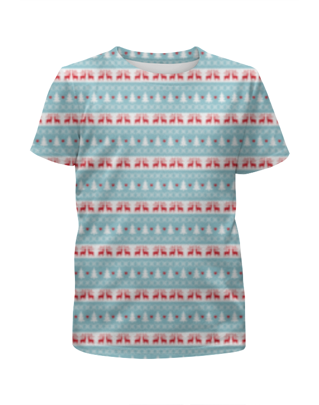 Футболка с полной запечаткой для девочек Printio Новый год футболка с полной запечаткой для мальчиков printio новый год 2016
