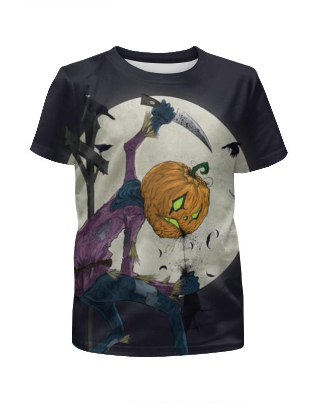 Футболка с полной запечаткой для девочек Printio Хэллоуин футболка с полной запечаткой для мальчиков printio ночь всех святых
