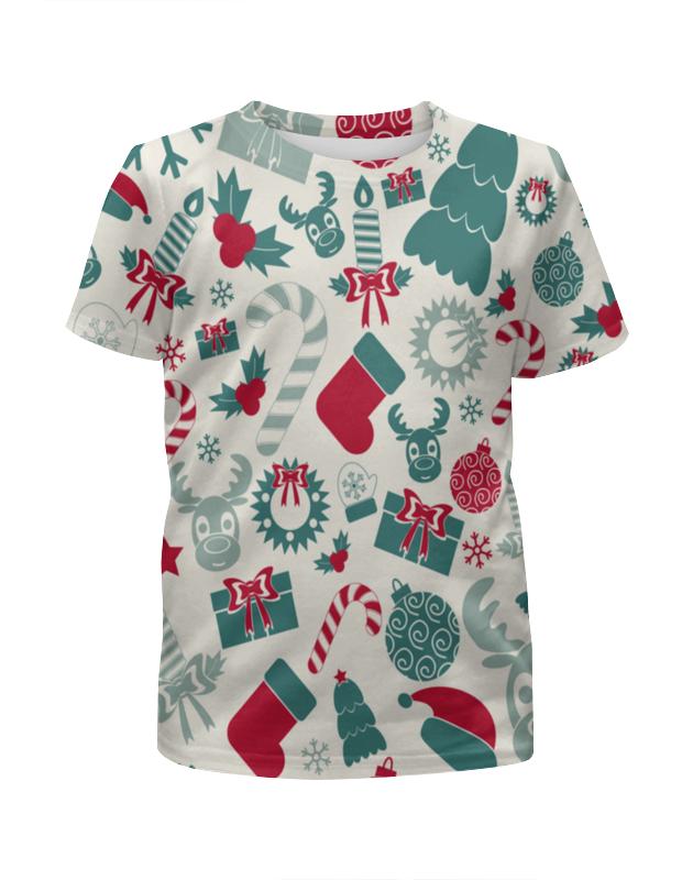 Футболка с полной запечаткой для девочек Printio Новогоднее настроение футболка с полной запечаткой для девочек printio весеннее настроение