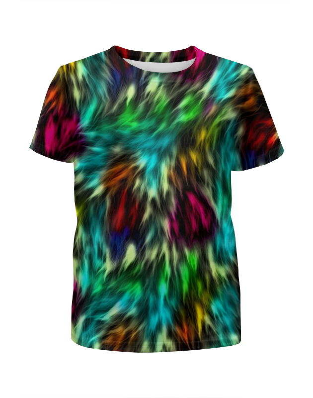 Футболка с полной запечаткой для девочек Printio Разноцветные краски футболка с полной запечаткой для девочек printio жидкие краски