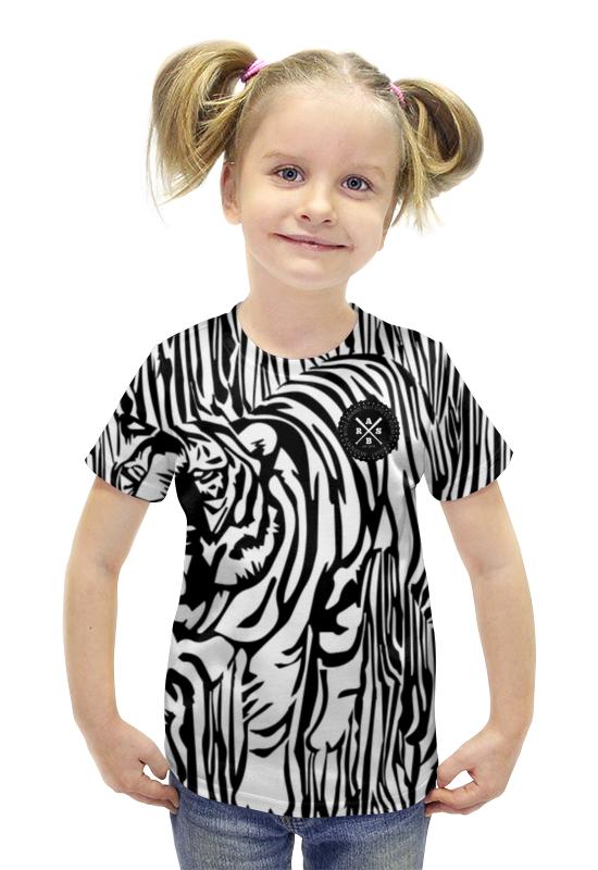 Футболка с полной запечаткой для девочек Printio Пртигр arsb футболка с полной запечаткой printio bats spawn arsb