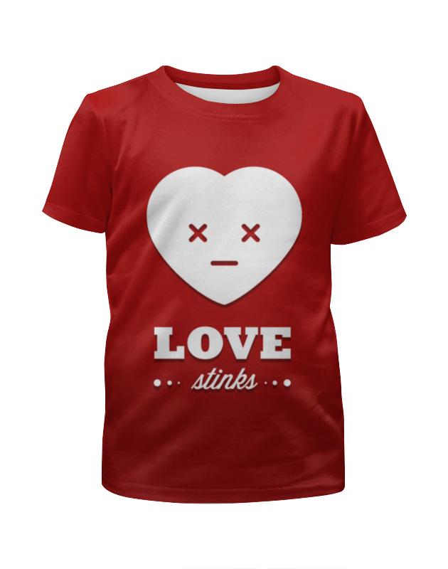 Футболка с полной запечаткой для девочек Printio Love stinks