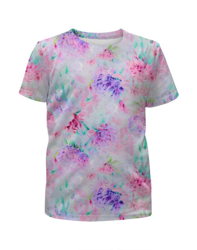 Футболка с полной запечаткой для девочек Printio Акварельные нежные розовые цветы невидимка для волос funny bunny розовые цветы 2 шт