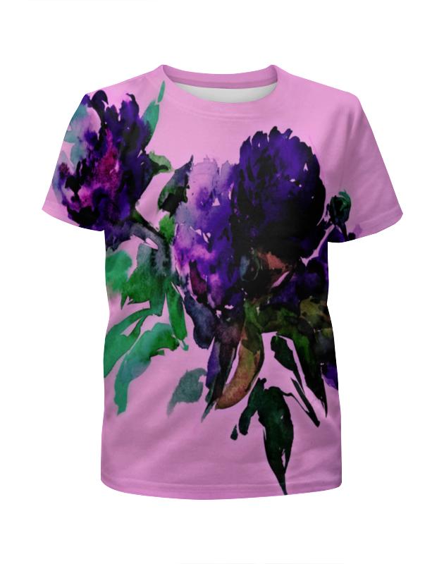 Футболка с полной запечаткой для девочек Printio Цветы красками футболка с полной запечаткой для девочек printio пртигр arsb