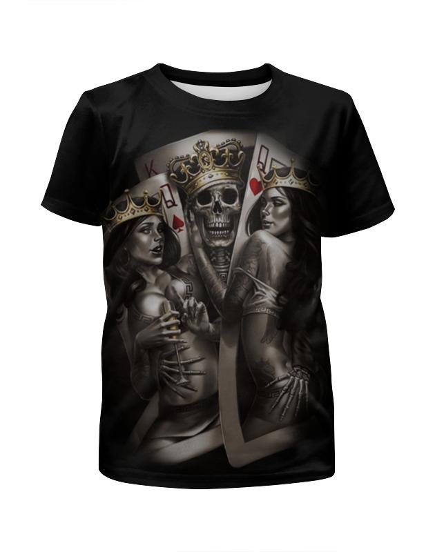 Футболка с полной запечаткой для девочек Printio Gipsy king футболка с полной запечаткой женская printio gipsy king