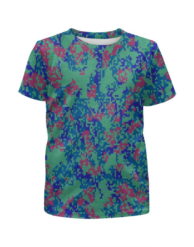 Футболка с полной запечаткой для девочек Printio Мультицвет пиксельный камуфляж футболка с полной запечаткой для девочек printio пиксельный пикачу
