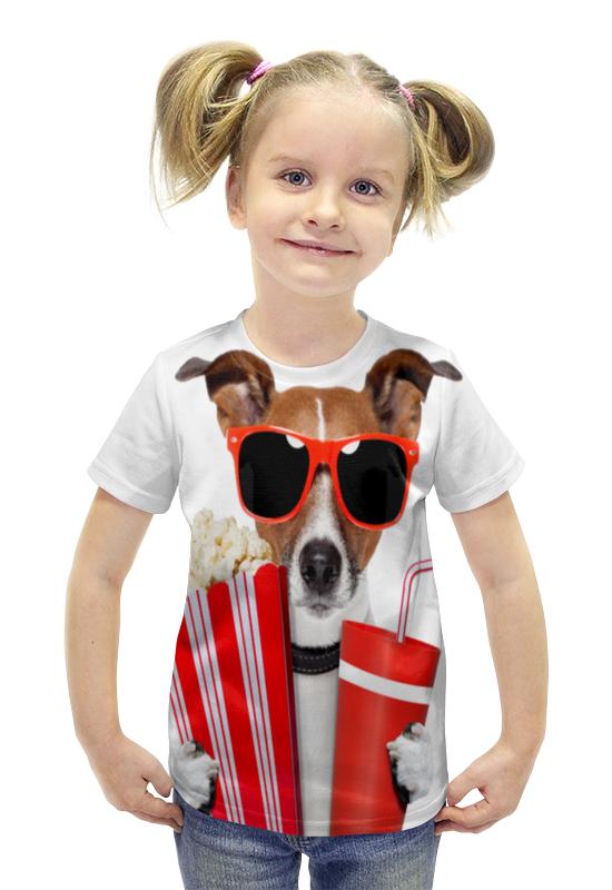 Футболка с полной запечаткой для девочек Printio Песик футболка с полной запечаткой для девочек printio spawn