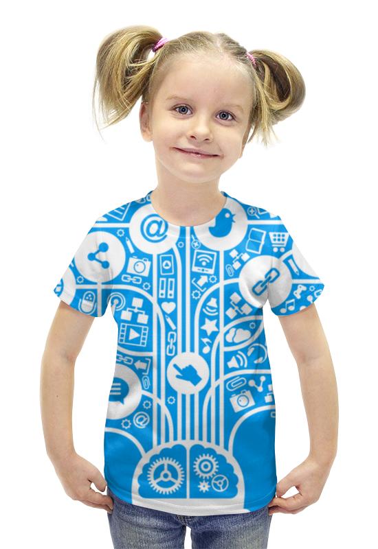 Футболка с полной запечаткой для девочек Printio Интернет футболка с полной запечаткой для девочек printio пртигр arsb