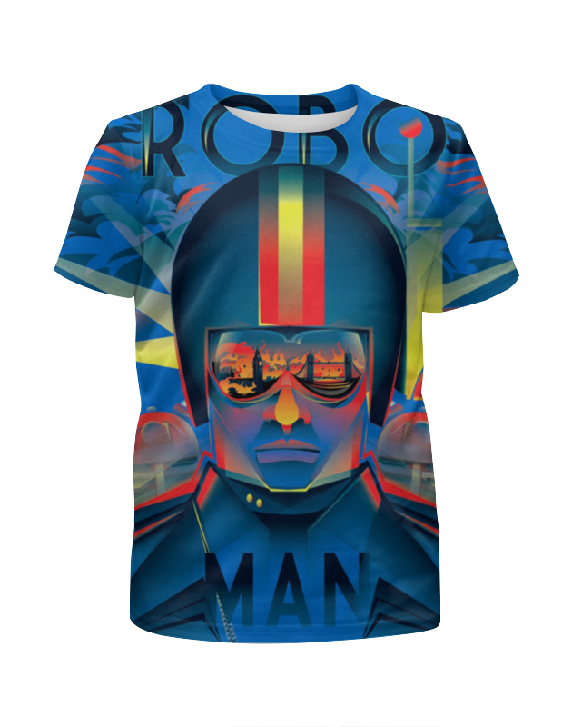 Футболка с полной запечаткой для девочек Printio Robo man robo sos