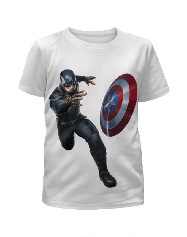 Футболка с полной запечаткой для девочек Printio Captain america: civil war футболка с полной запечаткой для девочек printio captain america