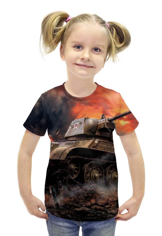 Футболка с полной запечаткой для девочек Printio Русский танк непобедим вячеслав ликсо стрелковое оружие великой отечественной войны