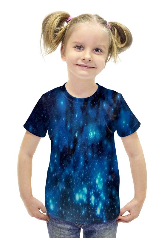 Футболка с полной запечаткой для девочек Printio Звездное небо брюки котмаркот штанишки звездное небо