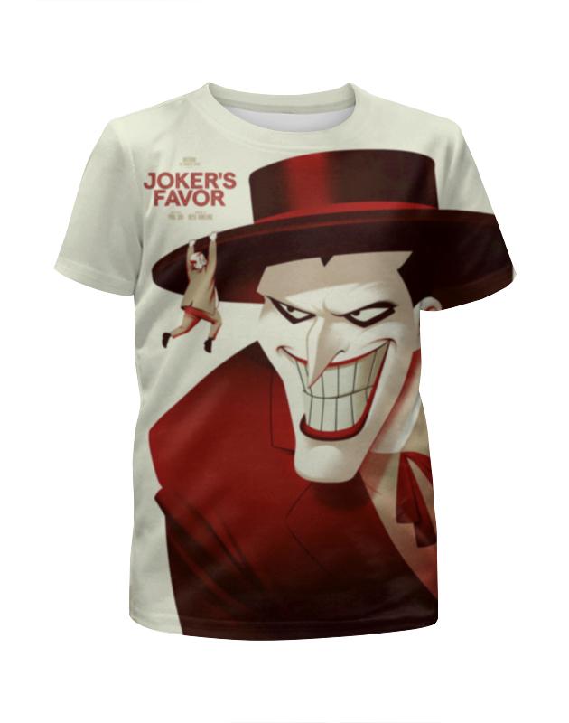 Футболка с полной запечаткой для девочек Printio Джокер (англ. joker — шутник) футболка с полной запечаткой для девочек printio joker dc comics
