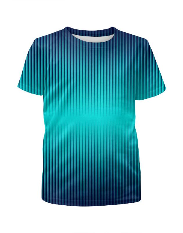 Футболка с полной запечаткой для девочек Printio Синие полосы футболка с полной запечаткой для девочек printio rushero arsb