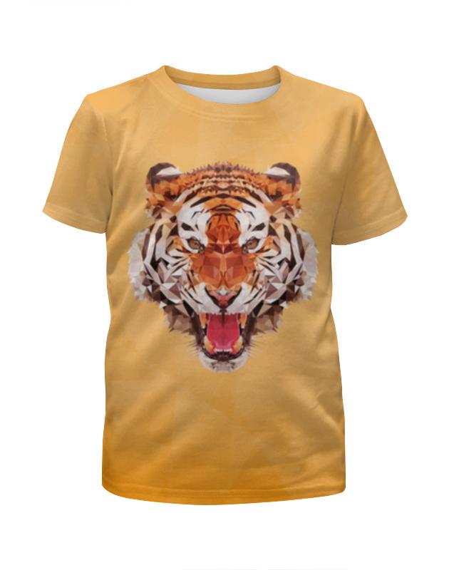 Футболка с полной запечаткой для девочек Printio Полигональный тигр футболка с полной запечаткой для девочек printio полигональный лев
