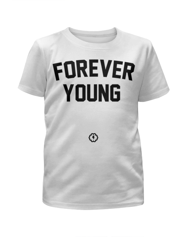 Футболка с полной запечаткой для девочек Printio Forever young by brainy