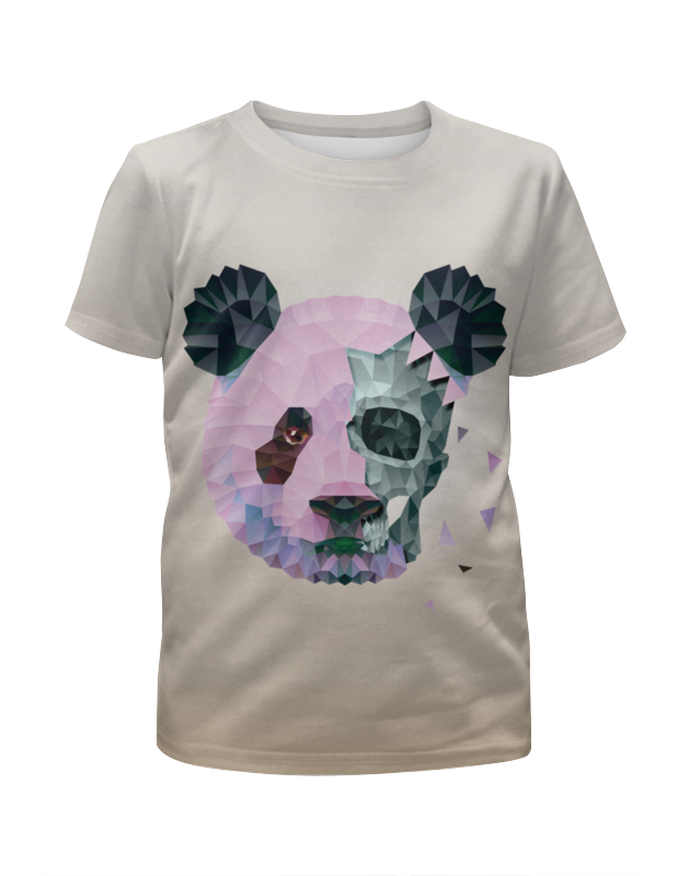 Футболка с полной запечаткой для девочек Printio Polygonal panda metal crossbar polygonal mirrored sunglasses