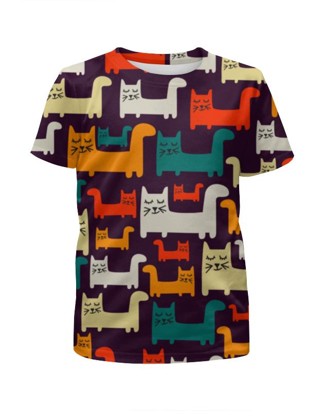 Футболка с полной запечаткой для девочек Printio Спящие котики футболка с полной запечаткой для мальчиков printio спящие котики