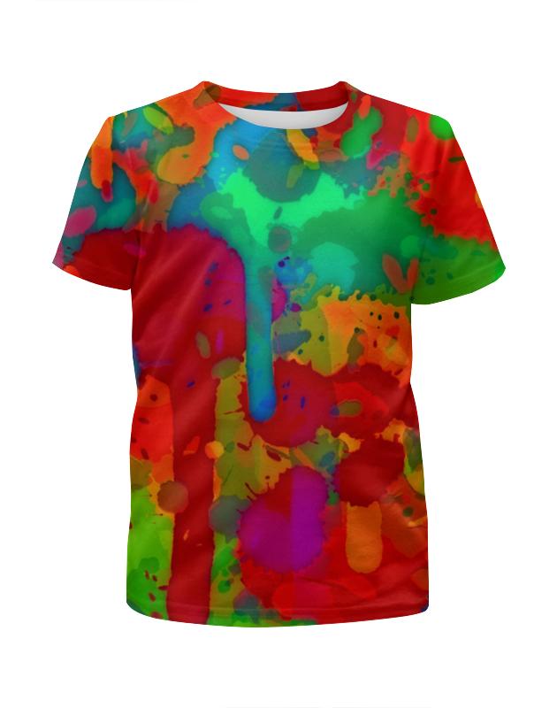 Футболка с полной запечаткой для девочек Printio Сочные краски волшебные краски для девочек