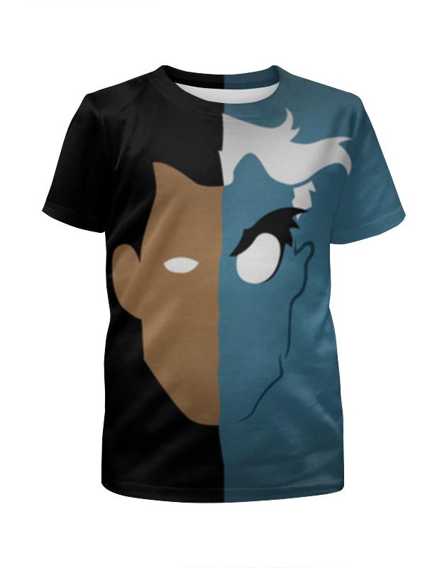 Футболка с полной запечаткой для девочек Printio Двуликий футболка с полной запечаткой мужская printio harvey dent two face