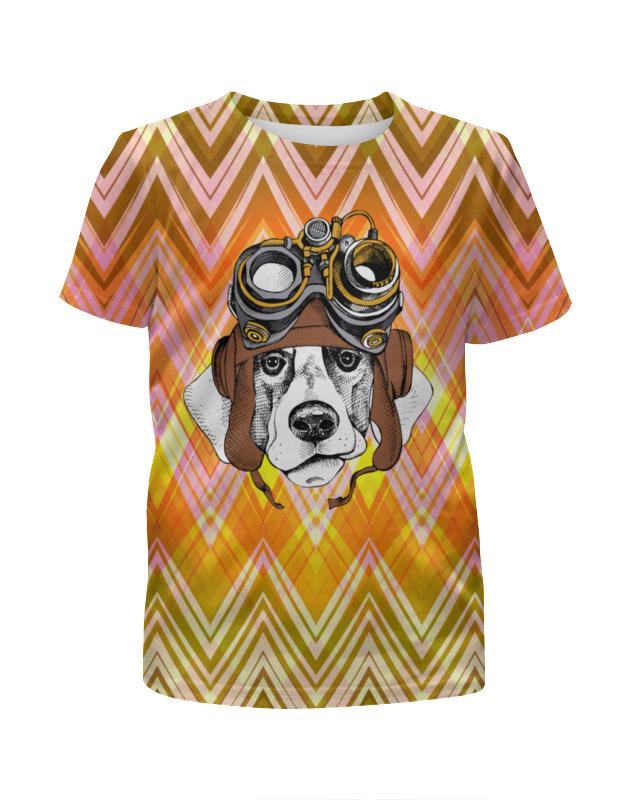 Футболка с полной запечаткой для девочек Printio Пес летчик футболка с полной запечаткой для девочек printio хипстер пес