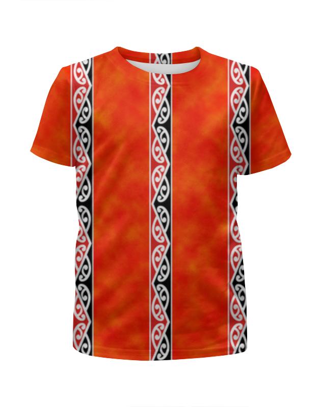 Футболка с полной запечаткой для девочек Printio Узор маори футболка с полной запечаткой для девочек printio пртигр arsb