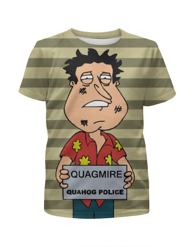Футболка с полной запечаткой для девочек Printio Quagmire quahog police футболка с полной запечаткой женская printio police